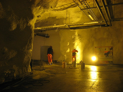 Construction of the Inside of the Svalbard Global Seed Vault