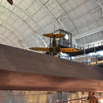 "Steven F. Udvar-Hazy Center: Lockheed SR-71 Blackbird port panorama (Bowlus 1-S-2100 Senior Albatross ""Falcon"" & Boeing P-26A Peashooter overhead)"