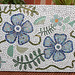 Blue flowers mosaic