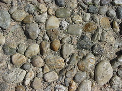 boulder(0.0), stone wall(0.0), wall(0.0), soil(0.0), rubble(0.0), formation(0.0), geology(1.0), bedrock(1.0), pebble(1.0), stream bed(1.0), rock(1.0), gravel(1.0),