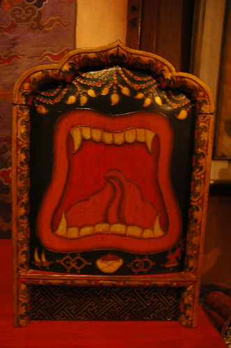 Wrathful mouth box, fine art store, Boudha, Kathmandu, Nepal by Wonderlane