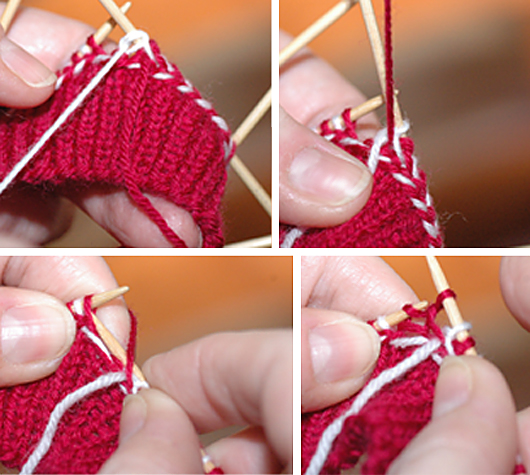 How to knit the braids, step 2