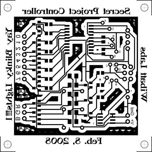 secret project circuit board art