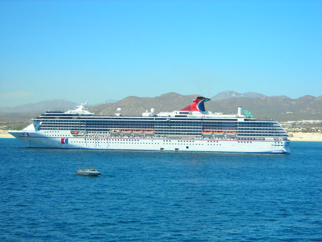 Carnival Elation anchored in Cabo San Lucas, Mexico