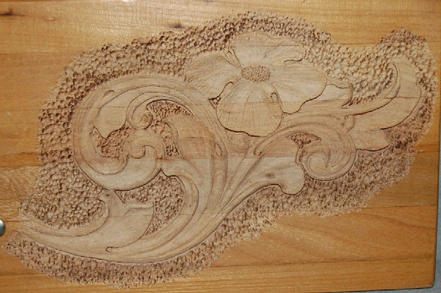 Acanthus pattern carved in shallow relief on wood an earlyu flickr