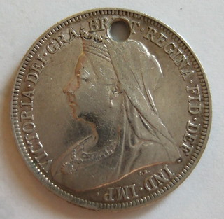 GREAT BRITAIN, VICTORIA 1900 ---SHILLING b