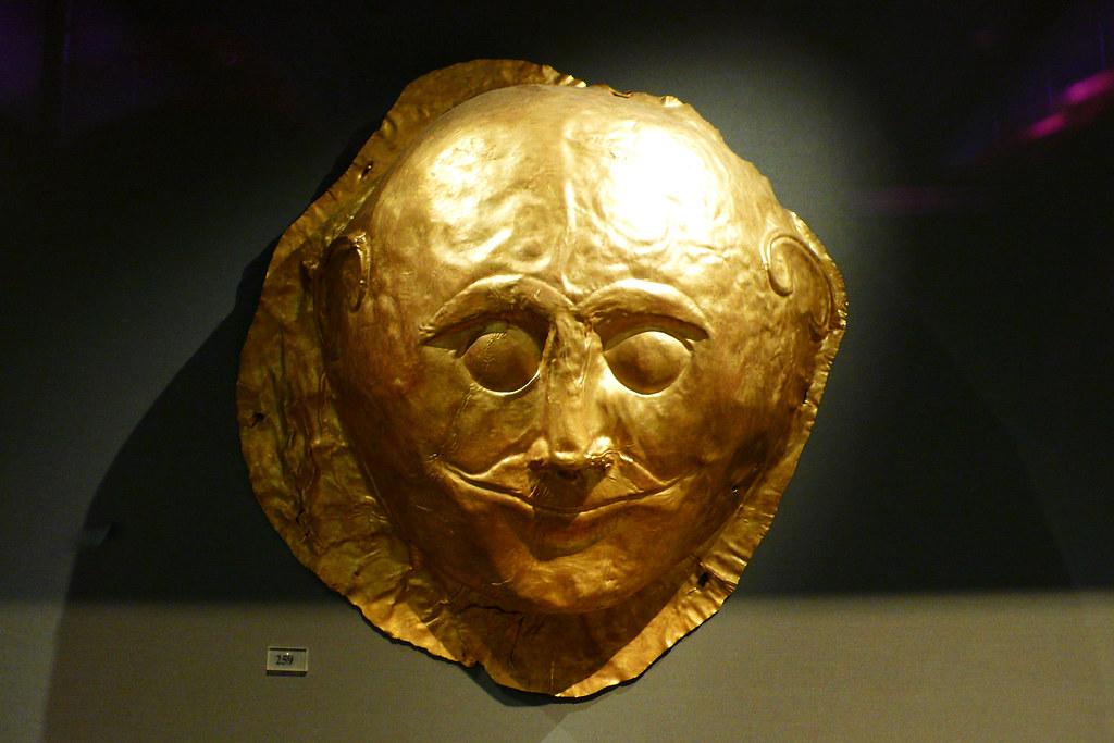 Mycenae Smirky Funeral Mask Flickr Photo Sharing