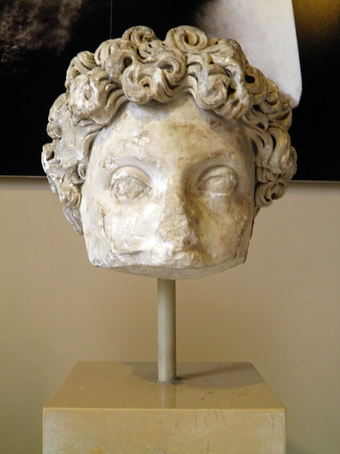 Head of Emperor Commodus (176 - 192 AD), Sculpture of Roman Period, Istanbul Archaeology Museum
