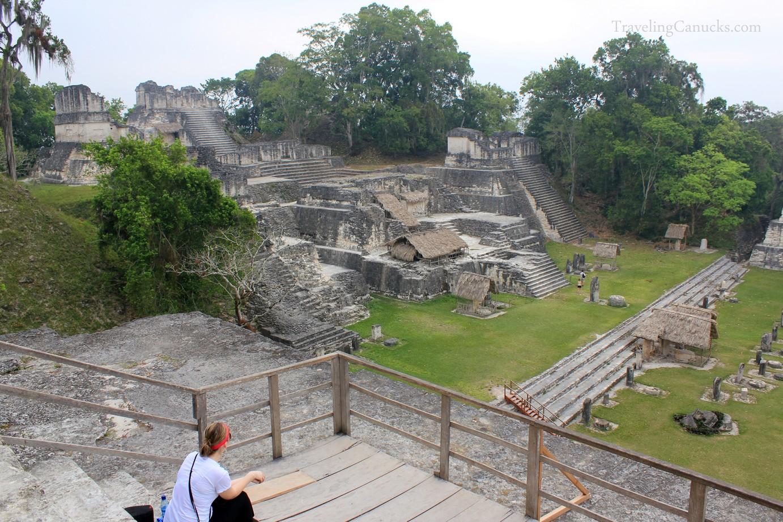 Mayan Temples in Gran Plaza, Tikal National Park