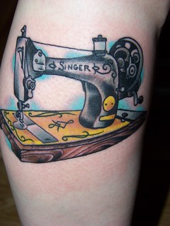 super sweet sewing machine tattoo