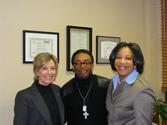 Councilmember Maryellen O'Shaughnessy, Spike Lee, and Councilmember Priscilla Tyson