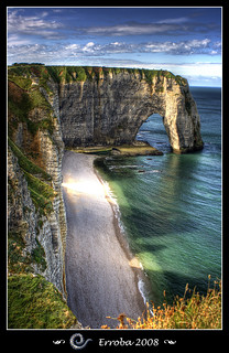 The famous cliffs of Etretat, Normandy - France