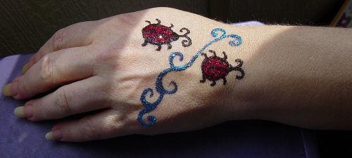 ladybugs glitter tattoo