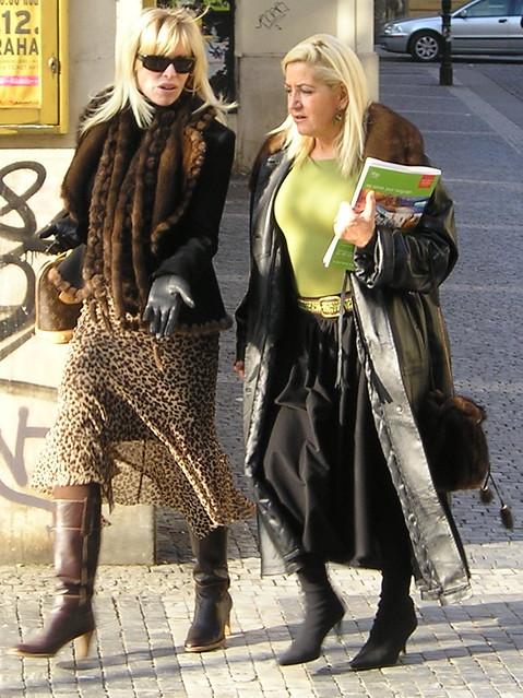 Prag Street Fur Fashion-Minkleather  Two Mature Friend