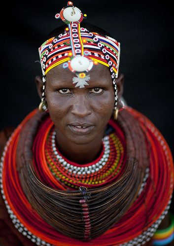 Rendille with plenty of necklaces - Kenya