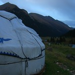 Yurts at Altyn Karashan, Kyrgyzstan