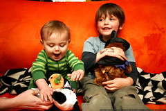 brothers and their gifts from grandpa jeff    MG 5524