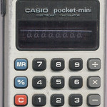 CASIO pocket-mini la de papá