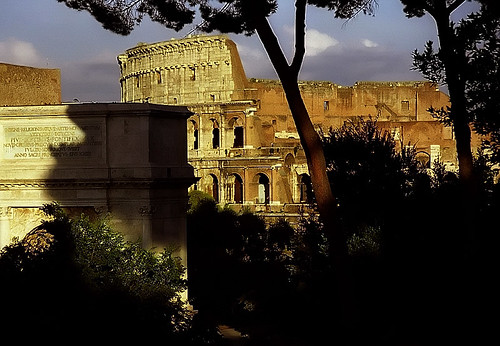 Rome - Coliseum & Arch Of Titus from Palatine Hill | by David Paul Ohmer