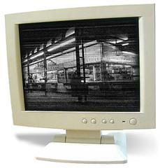 a monitor observing the Schwedenplatz in Vienna