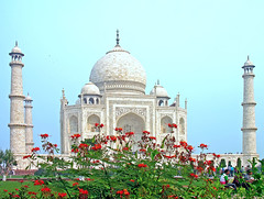 [Free Images] Architecture, Religious Buildings, Taj Mahal, World Heritage, Landscape - India ID:201302171200