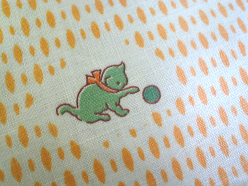 1930s kitty vintage fabric