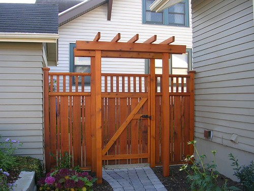 Craftsman style fence how to make fence for Craftsman style fence