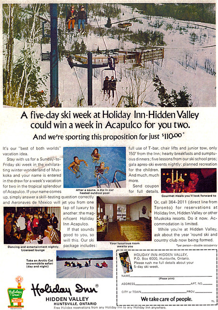 Vintage Ad #500: Skiing to Acapulco Via Huntsville