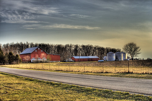 road ohio red house field canon rebel xt farm country hdr