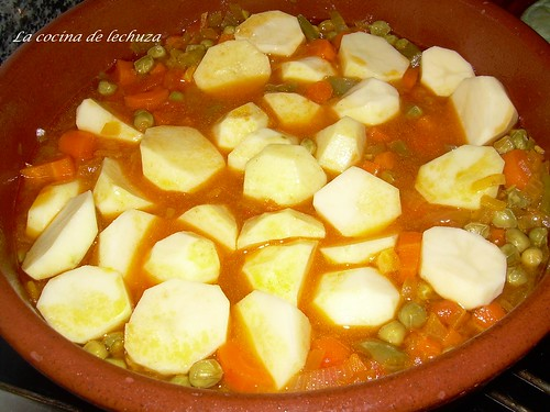 La cocina de lechuza recetas de cocina con fotos paso a paso diciembre 2007 - Bacalao guisado con patatas ...