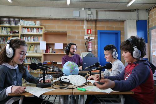 Taller radiofònic a l'Escola Anton Busquets i Punset de Calders