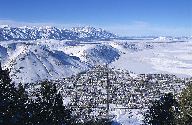 View Looking Over The Town Of Jackson Hole From Snow King Flickr