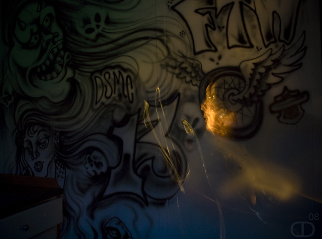 Ghost in the parlor | Light painting on an interior ...