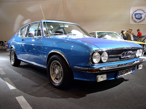 Blue Audi  S100