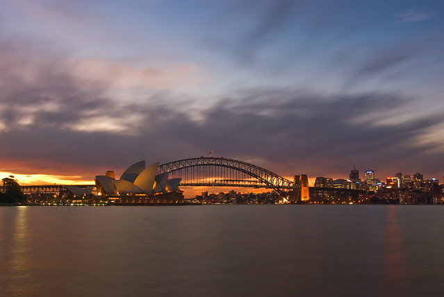Golden Sunset over Sydney Harbour