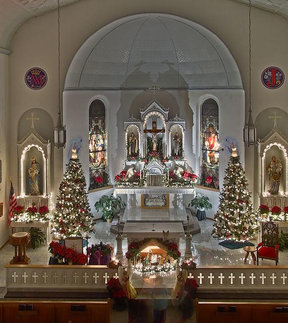 Simple Church Christmas Decoration Ideas : Saint joseph roman catholic church in apple creek