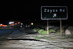 Zzyzx Road along the I-15 in California