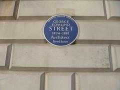 Photo of George Edmund Street blue plaque