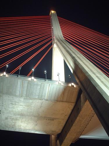 bridge architecture taiwan kaohsiung nightview 台灣 高雄 夜景 建築 橋 斜張橋 kaohsiungcounty 高雄縣 cablestayedbridge
