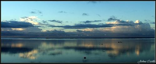 2005 travel blue sunset sky reflection nature water azul fiji agua sunsets cielo backpacker backpackers bello