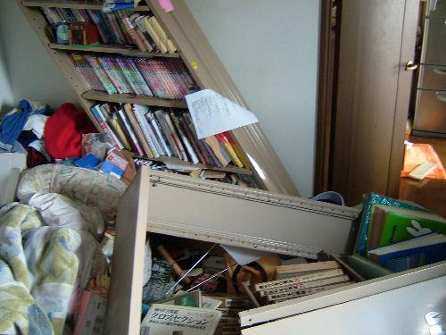震災時の自室