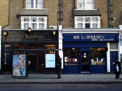 Mr Lawrence wine bar and wine/beer shop, Brockley, London SE4