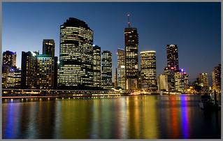 Brisbane Riverside at Twilight-05+