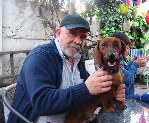 Flaite con perro Cuico