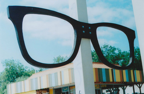 giant glasses
