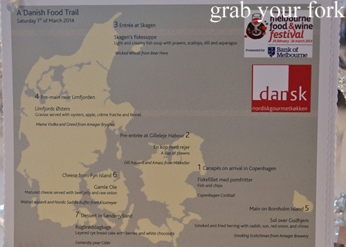 A Danish Food Trail menu map