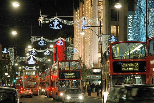 London, Oxford Street at Christmas