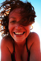nose, face, fun, hairstyle, skin, red, girl, head, hair, woman, female, lady, close-up, mouth, laughter, person, beauty, portrait, smile, eye, organ,