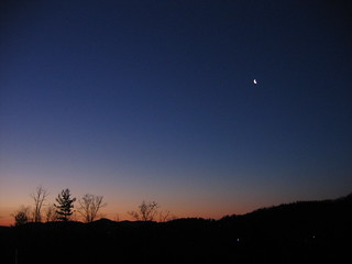 today before sunrise...crescent moon