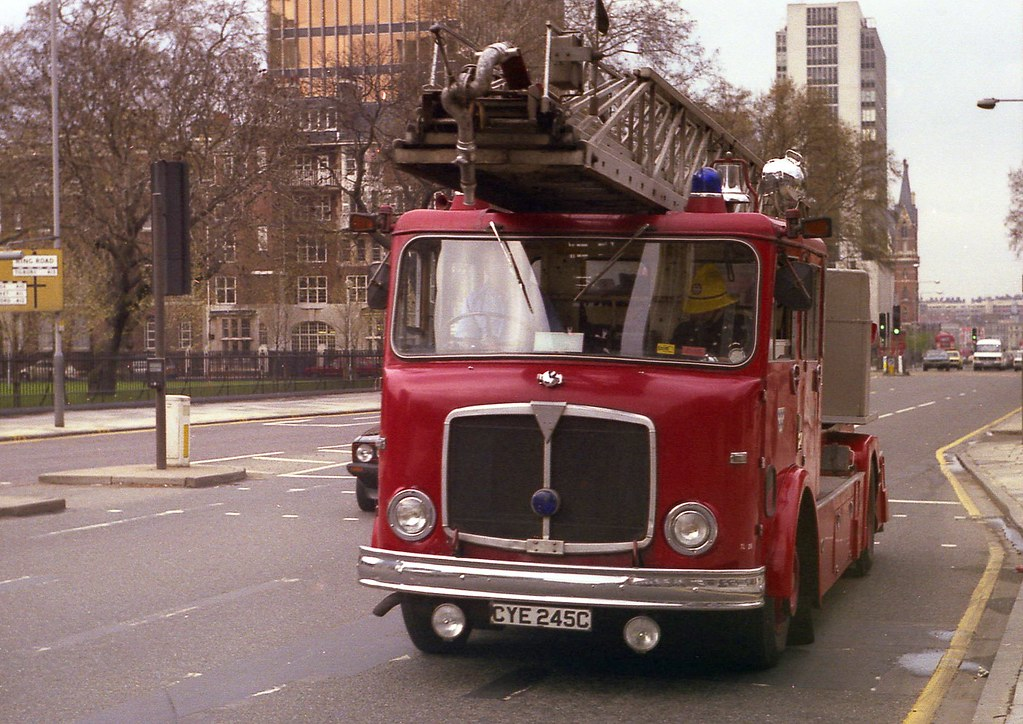 AEC Mercury 'Turn-table ladder', London Fire Brigade.